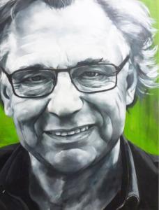 Jan Mulder, oud-voetballer en schrijver geportretteerd door Meg Mercx