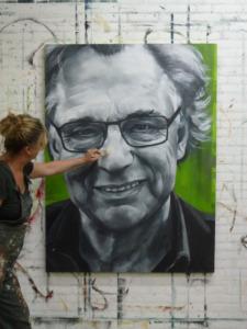 portret Jan Mulder door Meg Mercx, i.o.v. sterren op het doek
