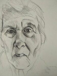 dementie, portret van mijn moeder
