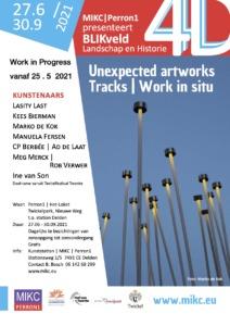 Uitnodiging BLIKveld 2021 Unexpected Artworks, Twixkelpark Perron1 Delden