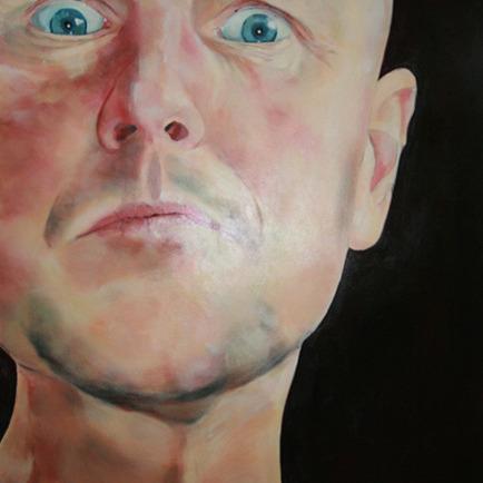 Hugo Brasz acteur en verhalenverteller portret geschilderd door meg mercxkopie