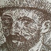 van Gogh III lino meg mercx
