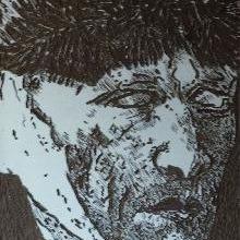 van Gogh, lino zelfportret door meg mercx