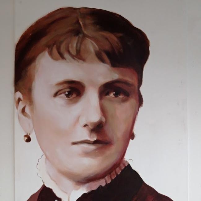 voormoeder Elisabeth Sterk geschilderd door meg mercx