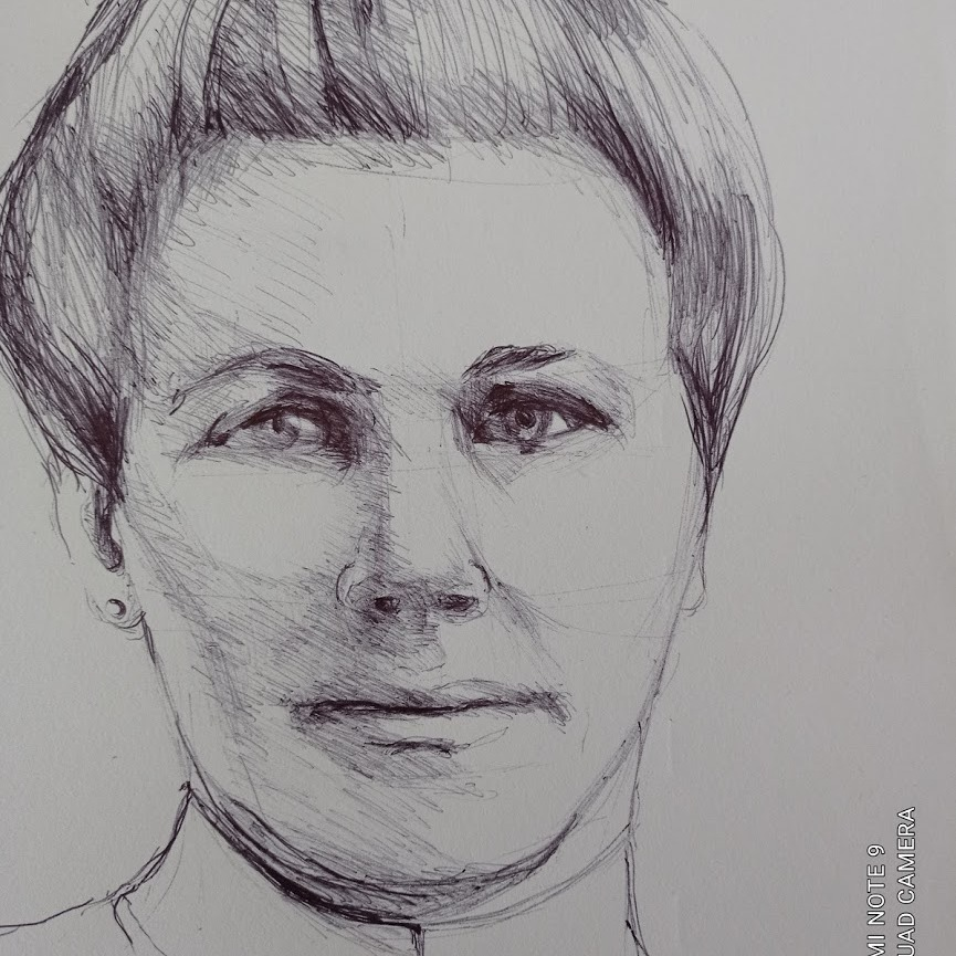 voormoeder Johanna Smit 1874-1945 schets Meg Mercx